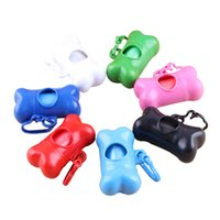 animal disposal - Newly Rolls Cute Bone Design for Dog Shit Collection Portable Pet Disposal Rubbish Bag Carry for Animals Wastes JJ0073