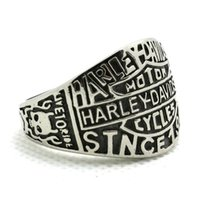 Wholesale Cool L stainless steel mens biker ring wonderful jewelry