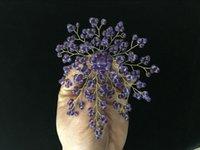 amethyst flower brooch - latest design inch mm purple amethyst beads flower shape Brooch