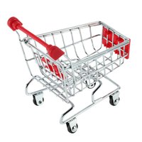Wholesale 1pcs Mini Supermarket trolley Shopping Handcart Phone Holder Baby Toy Newest Hot Search