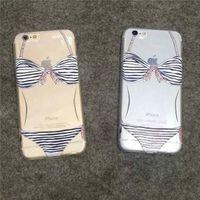 apple sketches - New Super Slim sketch bikini Phone Shell All Inclusive TPU Soft phone Case Cover For s plus