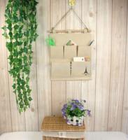 aluminum pocket doors - Home Decor Cloth Pockets Storage Bag Sundries Collection Wall Door Hanging Bag