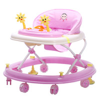 Wholesale Newly Baby Walker with Wheels Toddler Safety Anti Rollover Seat Music First Steps Toys Infant Walkers Multifunctional Car JN0078