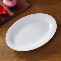 Wholesale Porcelain fish plates oval plates pure white bone china plates oval shape quot fish plate serve for fish