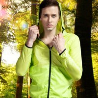 Wholesale Brand New Women Men Ultra light Outdoor Sport Waterproof Jacket Quick dry Clothes Skinsuit Plus Size Outwear Uv protection