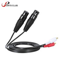 audio amplifier mixer - 1 m ft Stereo Audio Cable Cord Dual XLR Female to Dual RCA Male Plug for Mixer Mixing Console Microphone Amplifier