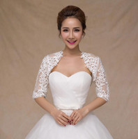 Wholesale New Fashion Sheer Long Sleeve Lace Bridal Jackets for Wedding Ladies Jackets Bridal Accessories HT119