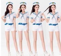 Wholesale 2016 fashion Tara Navy stewardess uniform stage wear
