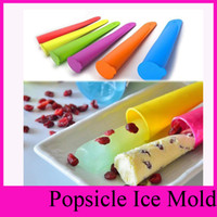 Cheap hot candy Colors Silicone Popsicle Mold Push Up Homemade DIY Delicuous Ice Cream Jelly Lolly Pop Maker HG-1892