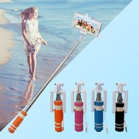 Wholesale Wired Selfie Stick Handheld Extendable Monopod for Android iPhone Samsung Orange Blue Black Fuchsia Available