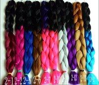 Wholesale 2016 Hot X pression Ombre Braid Synthetic Hair Extensions Kanekalon Jumbo Braiding Hair quot g DHL