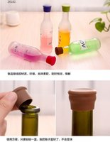 Wholesale 100pcs Best Wine Silicone Bottle Cap Art Gifts Accessories to Label Your Personalized Wine Bottles and Racks Seal with Reusable A039
