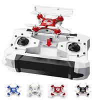 Wholesale 2016 FQ777 Pocket Drone CH Axis Gyro Quadcopter Drones With Switchable Controller One Key To Return RTF UAV RC Helicopter Mini Drones