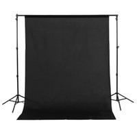1.5x3m / 5x10ft 100% algodón muselina PRO foto de la fotografía, fondo Negro