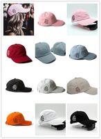 amp clubs - Skull Designer Anti Social Social Club Baseball Cap Adjustable Strapback For Adults Mens amp Womens Cotton Hat Pink Black Blue Solid Color