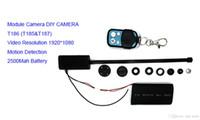 2016 Cámaras de seguridad llenas de la original T186 HD 1080P de la venta caliente mini cámara de DV Cámaras de seguridad ocultadas 3000mah del CCTV DVR del espía