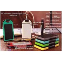 Wholesale Real mAh Solar panel Battery Solar Panel portable power bank for Cell phone Laptop Camera MP4 With Flashlight waterproof shockproof