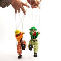 baby traditions - Marionette Puppet Shadow Play Clown Kids Child Baby Wooden Funny Traditions Classic Toy