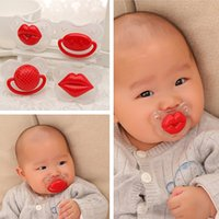 Wholesale High quality Silicone Baby Pacifier Funny Nipples Dummy Baby Soother Joke Prank Toddler Pacy Orthodontic Teat Teether