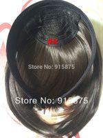 Wholesale retail headaband bangs for women natural black color sideburns full bangs franja synthetic fringe hair high quality good gift