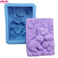 Wholesale Panda silicone mold candle molds cupcake baking tools for cakes Soap molds Fondant Cake Decorating Tools