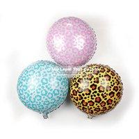 animal safari balloons - 10pcs inch Safari Animal Print Leopard Spots Foil balloons self sealing Helium balloon kid s toy Globos