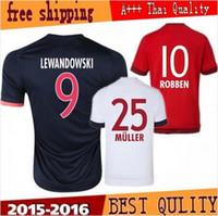 Wholesale Bayerns soccer Jersey LEWANDOWSKI home away ROBBEN GOTZE MULLER thai quality Bayerns football shirt soccer jersey