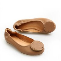 ballet flats walking - US Popular Driving Walking Shoes Genuine Leather Ballet Flats Outdoor Loafers Lady Women Shoes Sz