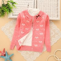 Wholesale 2017 new arrival child clothing spring autumn girl s clothes baby clothing kids baby flower Sweaters girl s red pink coat T
