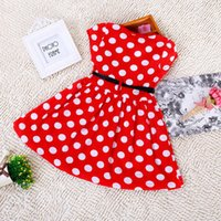 Wholesale 2016 Newkids girls dresses Lovely Color Dot Mickey Minnie tutu Dress Baby Clothes Kids clothing