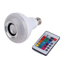 Wholesale Wireless Bluetooth LED Audio Speaker Smart Bulb Music Lamp Paly Light HOt Selling