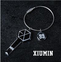 acrylic photo holders - hotsale exo member keychain keyring