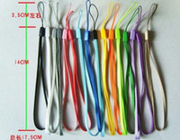 Wholesale Nylon Wrist Hand Cell Phone Chain Straps Keychain Charm Cords DIY Hang Rope Lariat Lanyard Free DHL