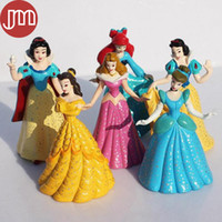belle doll cake - New Princess Toys Schneewittchen Snow White Cinderella Belle Ariel Cake Toppers Action Figures Doll cm Anime Brinquedos