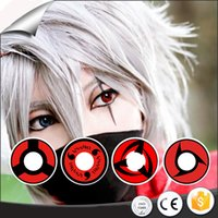 Wholesale yearly cycle crazy fancy halloween sharingan eye contact lenses for eyes cos play look contact lenses