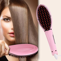 beautiful displays - Factory Price Beautiful Star White Pink Straightening Irons Come With LED Display Electric Straight Hair Comb Brush US EU Plug