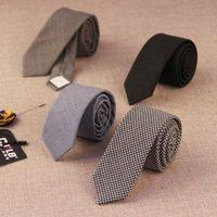 Precio de Lazo de lana-Los lazos de lujo de las lanas 14color para la corbata delgada negra 10pcs / lot del negro del negocio de la boda de la tela escocesa de la corbata del diseñador de moda de los hombres los 5cm