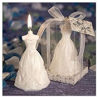 Wholesale OF Bride Shape Candle Level To Gift Box Packaging Dress Candle Shape Fashion Wedding Party Favor Pinter Other Supplies