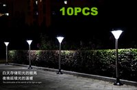 Wholesale 10pcs Solar energy lamp wall lamp outdoor garden LED lawn lamp warm white white red green blue Outdoor Lighting