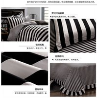 band comforters - Black and white strips bedding set bands bed set pure cotton linens bedclothes comforter cover bed sheet pillow cases