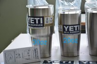 Wholesale Stainless Steel YETI RAMBLER Insulated Travel Tumbler oz SS Cars Beer Cup Mug Handle for Oz YETI Cup Holder