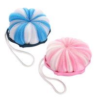 baby bathing accessories - 2 Colors Blue Pink Baby Bath Soft Sponges Brushes Bathing Accessories Skin Care x x cm