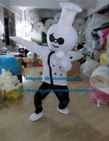 adult chef costume - Clever White Cook Chef Kitchener Baker Mascot Costume Cartoon Character Mascotte Adult Black Pants Small Nose NO Free Ship