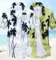 Wholesale 2016 Summer New Fashion Men Shirt Casual Flower Short Sleeve Shirt Slim Mens Linen Shirt Camisas Hombre Plus Size XL XL XL