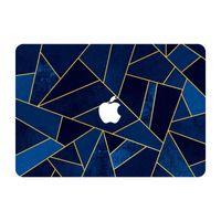 Wholesale JB073 Dark Blue Marble Stone Grain Top Vinyl Front Cover Laptop Sticker For Apple Macbook Air Pro Retina inch Protective Skin