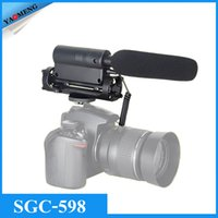 Wholesale TAKSTAR SGC PRO Shotgun DV Stereo Recording Interviews MIC Microphone for Canon Nikon Any DSLR Camera DV Video Camcorder