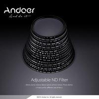 Wholesale Andoer mm ND Fader Neutral Density Adjustable ND2 to ND400 Variable Filter for Canon Nikon DSLR Camera