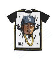 artist t shirt - Real USA Size Nas Real Hiphop Artist Legendary D Sublimation print T Shirt Plus size