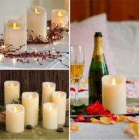 Wholesale Romatic LED Paraffin Wax Candle Lamp Flameless Electronic Light for Wedding Party Decoration Five colors