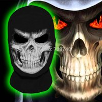 airsoft death - New The Grim Reaper Mask Scary Skull Ghost Death Balaclava Cosplay Airsoft Costume Motorcycle Paintball Halloween Full Face Mask